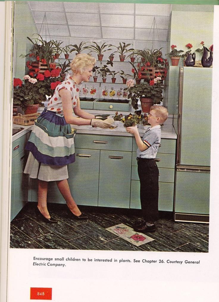 Retro kitchen gardening