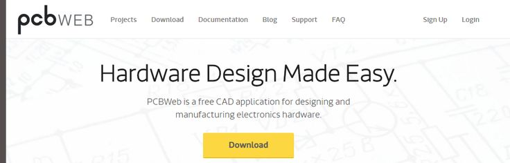 PCBWeb - a free CAD application for designing and manufacturing electronics hardware.