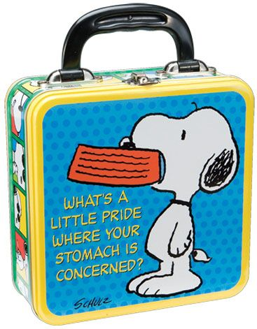 Peanuts Snoopy Tin Lunch Box