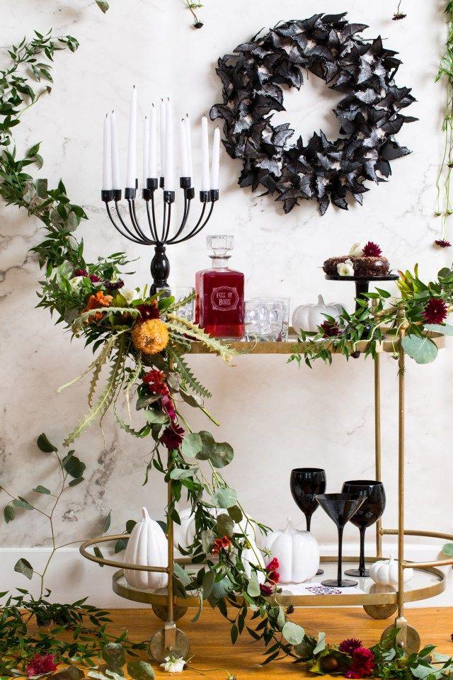Жуткий поделки Корзина Цветочная бар - сахар и ткани - Хэллоуин - Хьюстон блогер - праздник