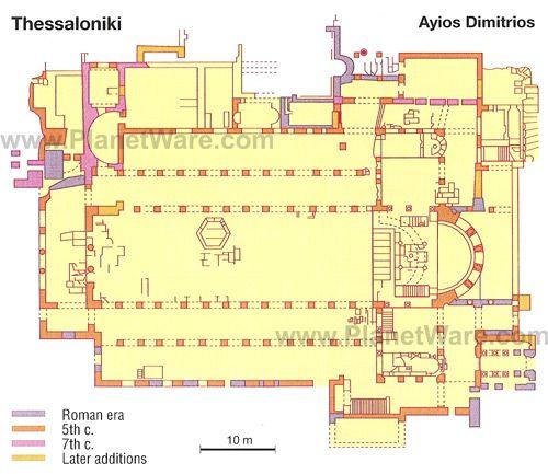 Plane of Agios Dimitrios church.