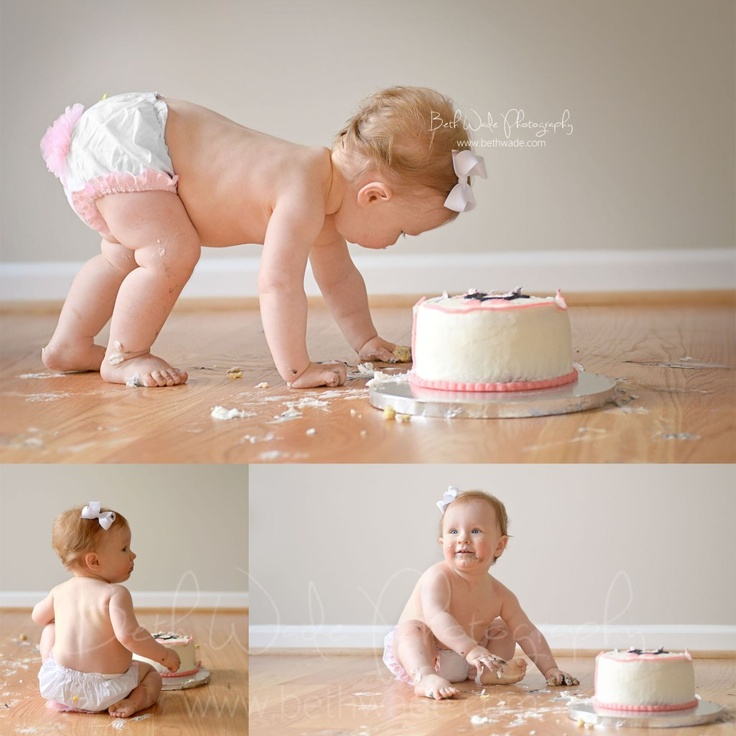 First Birthday Cake Smash 1 Year Old Baby Girl