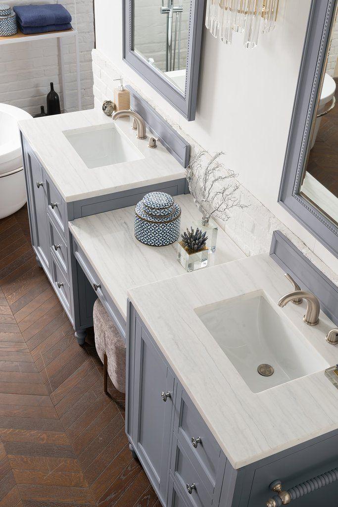 86 Copper Cove Encore Silver Gray Double Sink Bathroom Vanity