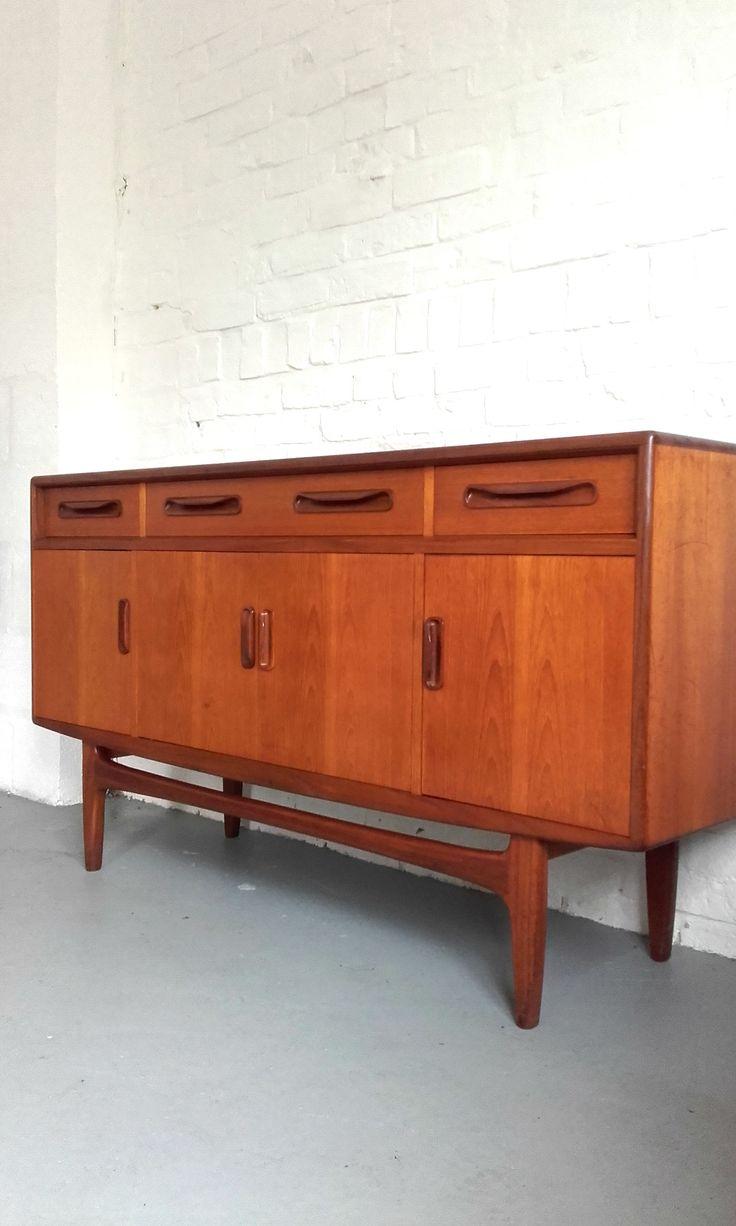 Pair of vintage danish rosewood and brushed steel side cabinets ref - Elegant 1970s G Plan Fresco Sideboard