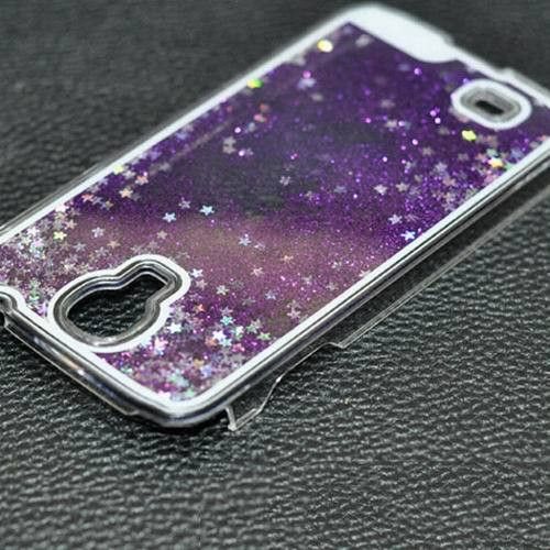 Glitter Stars Dynamic Liquid Quicksand Hard Case Cover For Samsung Galaxy S4 I9500 Transparent Clear Phone Case YC695
