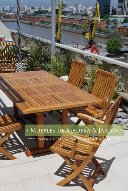 Mesa madera terraza alcampo catlogo terraza y jardn - Mobiliario de jardin alcampo ...