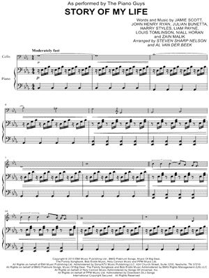 Story Of My Life Sheet Music By The Piano Guys