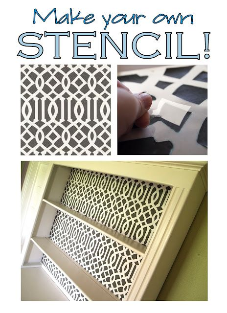 Make your own stencil for less than $1 and 5 minutes of your time! I LOVE Beth's blog, she is so crafty!