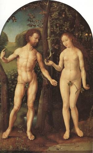 Adam & Eve - the fig leaves don't cover much!