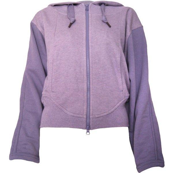 Pre-owned Stella McCartney for Adidas Zip UP Hoody (290 SEK) ❤ liked on Polyvore featuring tops, hoodies, pink, cotton hoodie, pink zip up hoodie, pink hooded sweatshirt, purple zip up hoodie and zipper hoodie