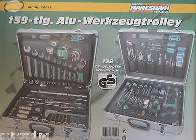 Mannesmann Toolbox 159 pc. piece toolbox Tools Tool trolley