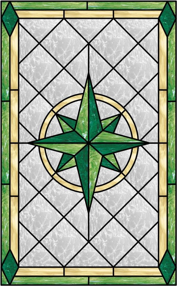 Glass Compass Rose Patterns : Lovely compass rose stained glass window custom