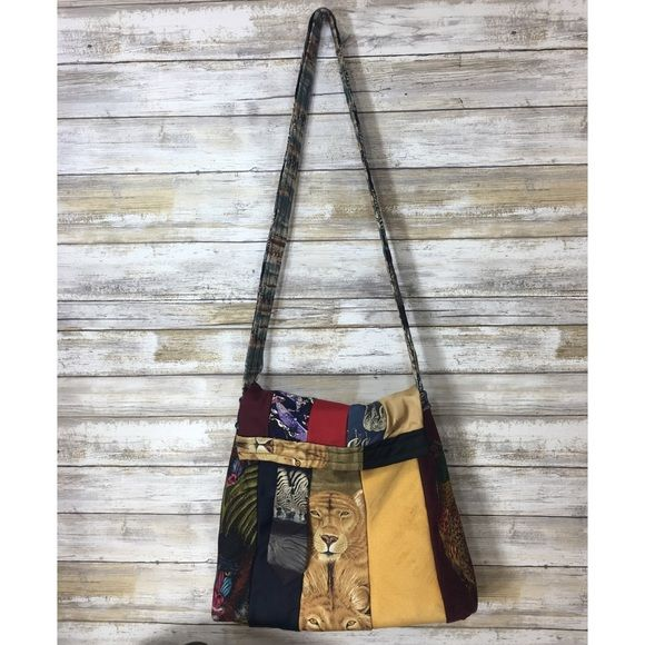 """Shop Women's Handmade size OS Bags at a discounted price at Poshmark. Description: This is so neat! Three piece set made by PJ Baggs Handmade Originals. Made in the USA. All bags have an animal necktie theme. Shoulder bag is large and measures 10.5"""" x 12.5"""" and strap is 37"""". Has a stain and small hole on the front. Small bag on the inside. Also comes with a small clutch that measures 8.5"""" X 7"""". Both have magnetic clasps. Lanyard measures 22"""" long. All made fr..."""