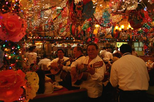 Mi Tierra in San Antonio.  Always decorated like nuclear Christmas. : 30 Awesome, 24 Hour, Bakeries, Mexicans Food, San Antonio, Cafe, Christmas Eve, Christmas Lighting, Awesome Things