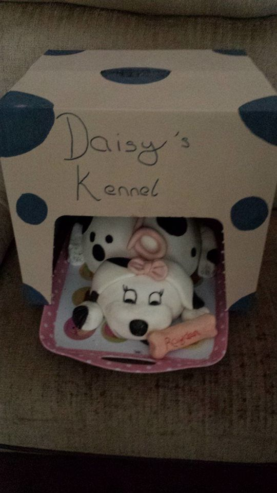 this is the finished product of the puppy cake i made including kennel, to see just the puppy go to my pins