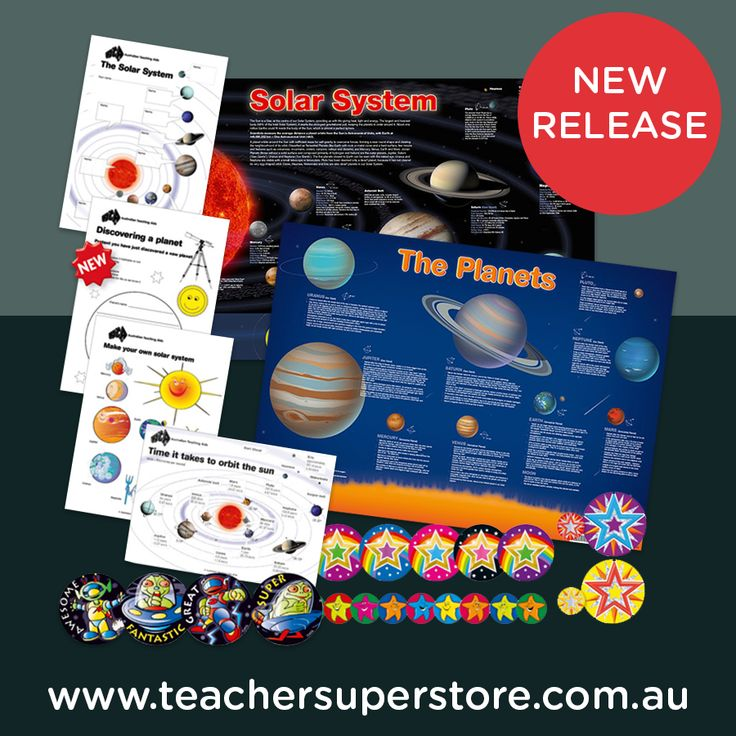 The Solar System & The Planets Activity Pack contains charts, photocopiable activities and stickers to assist students with their learning.