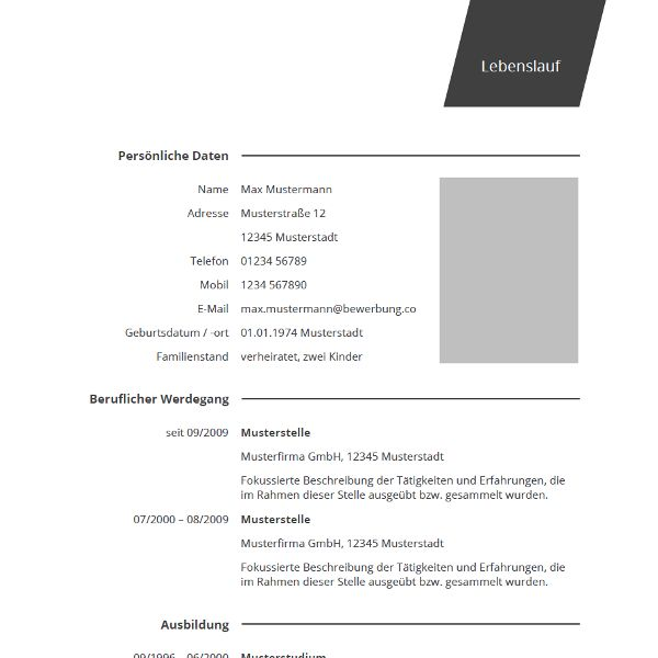 1000+ Ideas About Cv Muster On Pinterest | Bewerbung Muster