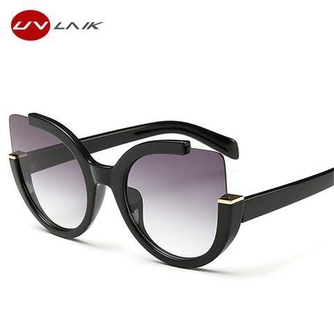 aef89fbb9b7 UVLAIK Cat Eye Sun Glasses For Women Oversized Ladies Sunglasses Women  Brand Designer UV400 Goggles