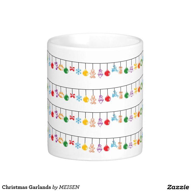Christmas Garlands Basic White Mug