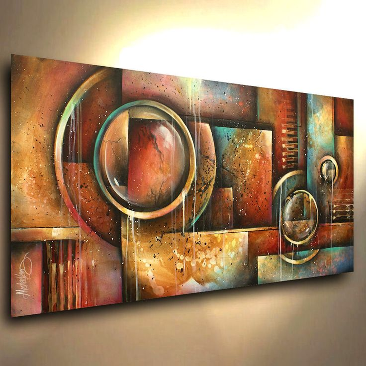 Decorative Painting modern Contemporary Michael Lang ART certified original #ArtDeco