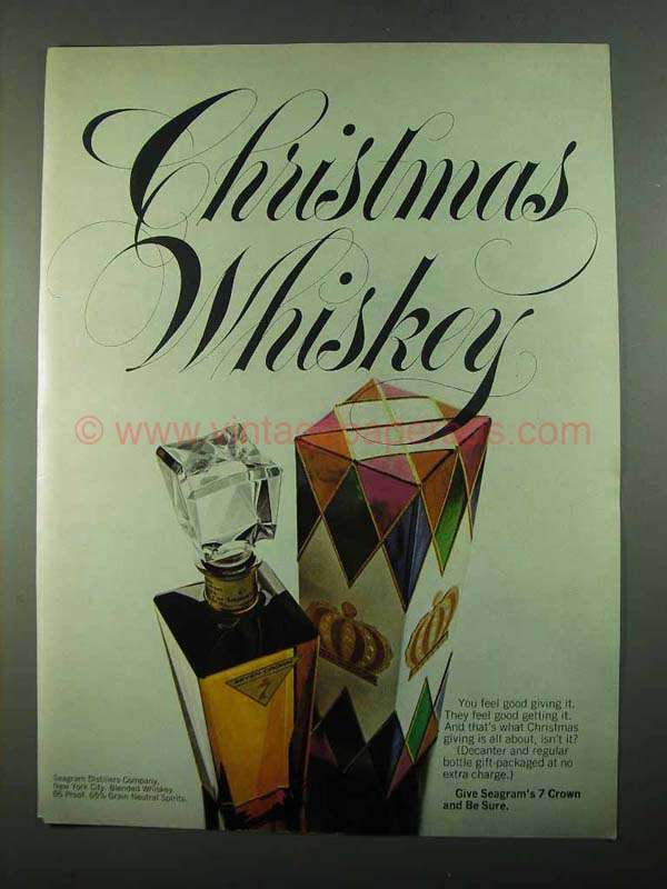 1969 Seagram's 7 Crown Whiskey Ad - Christmas