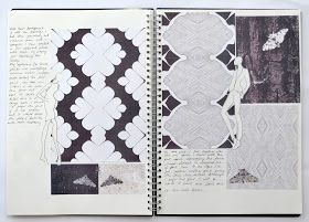 Fashion Sketchbook surface pattern design based on butterflies