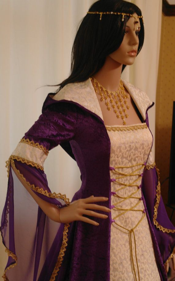medieval handfasting renaissance Wedding dress by camelotcostumes