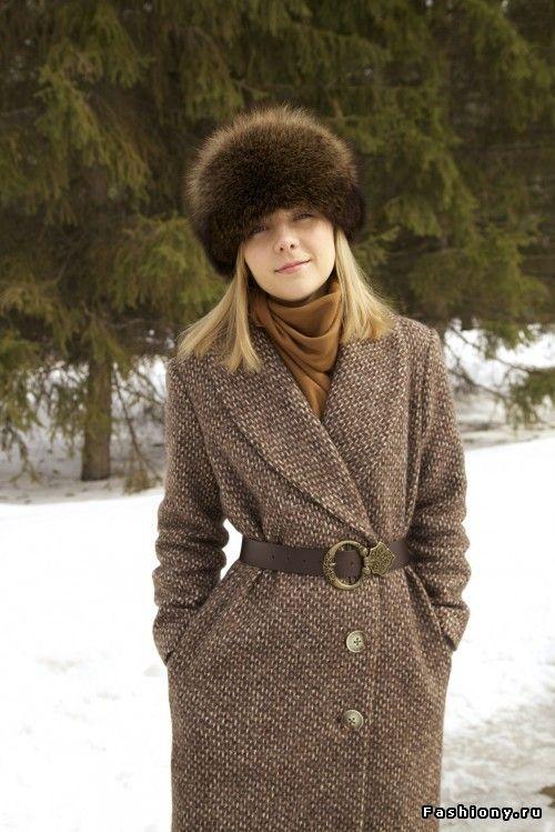 Пальто с воротником 'шалька' своими руками / простое пальто своими руками
