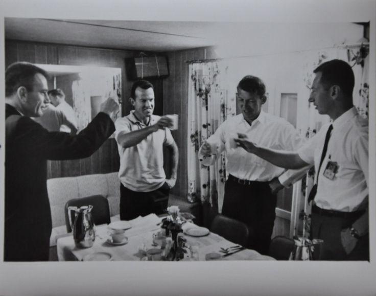 "Original 1963 8"" x 10"" Photo of Gordon Cooper Toasting Astronauts on Launch Day"