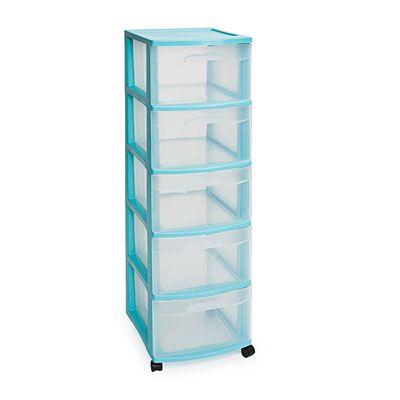 sterilite deep closet drawer blue 1