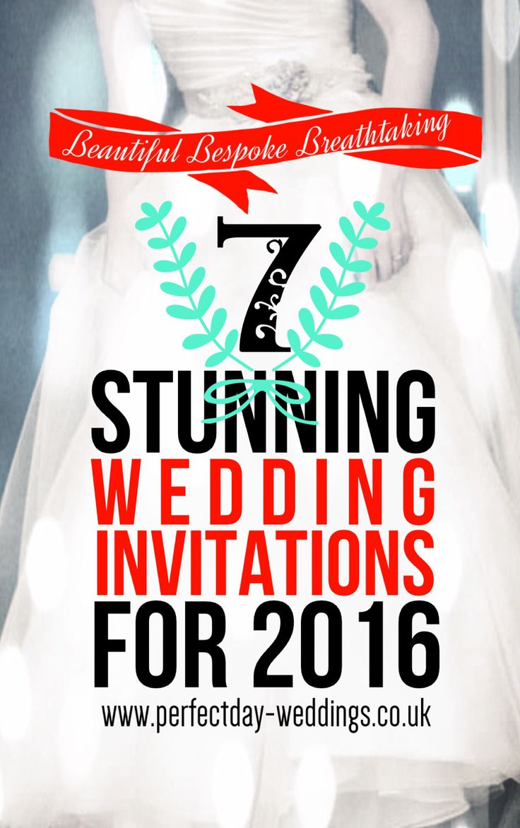 7 Stunning Wedding Invitation Ideas for 2016. By top London luxury bespoke wedding stationery experts Perfect Day Weddings.   See more at www.perfectday-weddings.co.uk Or call 0208 890 5707 for an informal chat or to book a free no-obligation design consultation at our beautiful showroom.