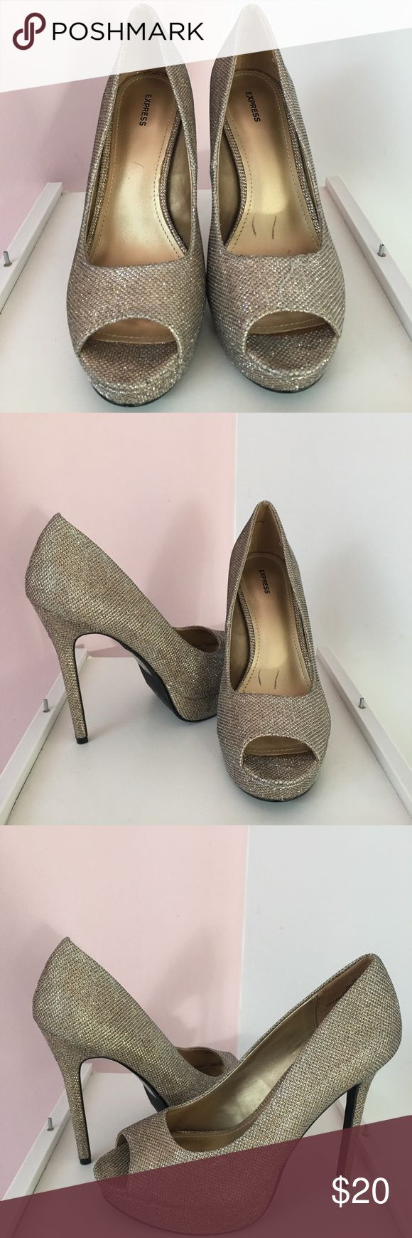 EXPRESS SHOES -SIZE 9.5 Pretty high heels from the Express store.  Worn once or twice. Size 9.5 Express Shoes Heels