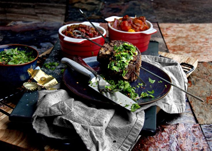 Grilled Top Sirloin Cap Steak - South American Picanha and Argentinian Chimichurri.