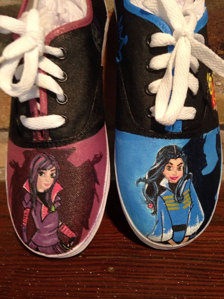 Descendants Custom Painted Shoes - pinned by pin4etsy.com