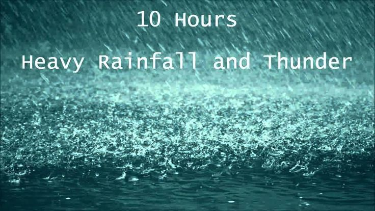 10 Hours Heavy Rainfall with Thunder Ambient Sleep Sounds la lluvia del ...