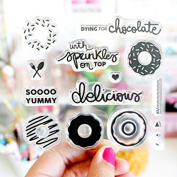 Clear Stamp mourir de chocolat P6 10 x 10 cm par lorabailora