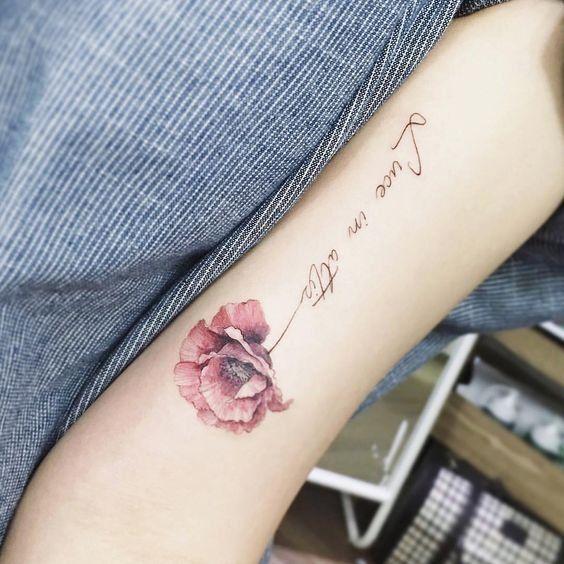 Flower Tattoo On The Inner Forearm Tattoo Artist Doy: Flower Arm Tattoo - MyBodiArt.com