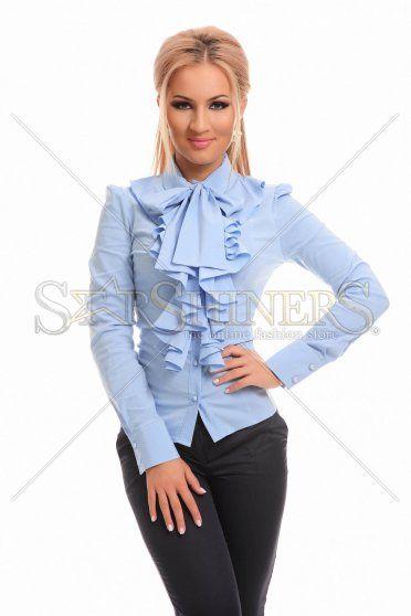 PrettyGirl Frill Guts Blue Shirt