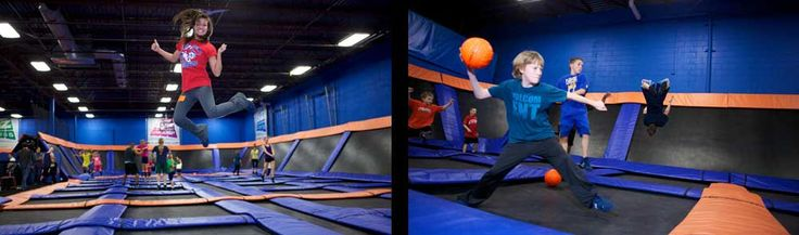 Sky Zone Indoor Trampoline Park ! All rights reserved. > Minneapolis - What's New at Sky Zone Minneapolis, MN?  Giant indoor trampolines - what more needs to be said?  Toddler times are available some mornings for the 6 and under set.  Open dodgeball and pit of foam to jump into.  And then they nap.  A good day for all!  About $15/each.