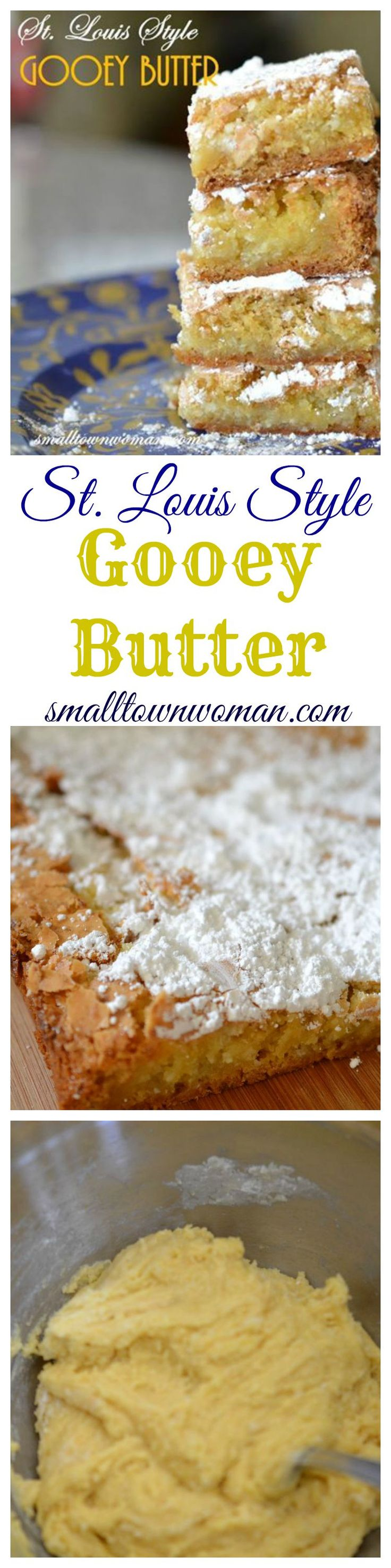 If you have never tried a Gooey Butter Cake you must really treat yourself!!  This is one of those regional recipes.  It is a St. Louis original recipe or at least that is what I have always been told and I believe to be true.  You will not be disappointed at all.  You will fall madly in love with this recipe.