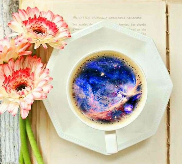 Double exposure - cup - universe - Jessica Domenichini - PicsArt