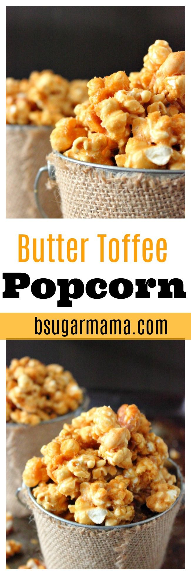 This Butter Toffee Popcorn recipe is perfect to give as a holiday gift. This Butter Toffee Popcorn recipe is easy, buttery, and covered with toffee flavor.