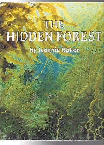 JEANNIE BAKER The Hidden Forest HC BOOK Australian Author -- Beautiful collage illustrations set in Tasmania, Australia