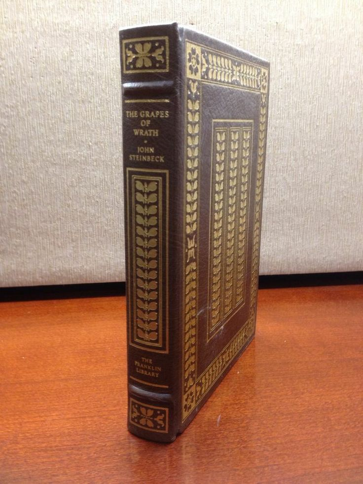 Grapes of Wrath John Steinbeck Franklin Library Full Leather 100 Greatest Books