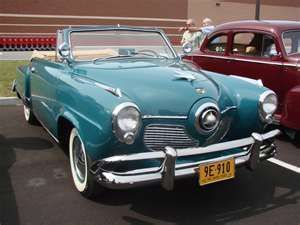 51 Studabaker convertable - Jack Lemon was driving one like this in and old movie I watched on TCM. Not sure if it was the year or not. But thought it was neat for a Studabaker.