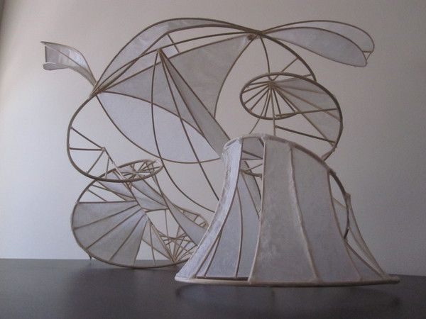 Reed and Tissue Paper Sculpture by Ian Coxen, via Behance