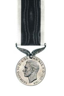 The New Zealand War Service Medal obverse view