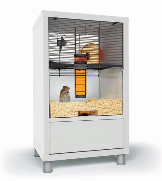 Qute Gerbil And Hamster Cage With Storage Furry Ball Of