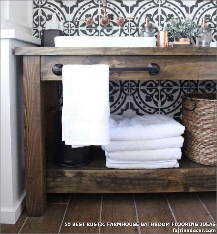 50 BEST RUSTIC FARMHOUSE BATHROOM FLOORING IDEAS - The ... on Rustic Farmhouse Bathroom Tile  id=56996