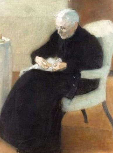 Schjerfbeck, Mother Sewing